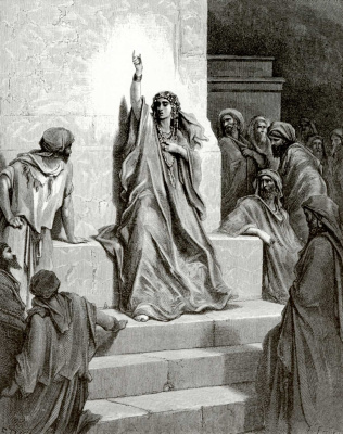 Paul Gustave Dore. Illustration to the Bible: Devorah's Song