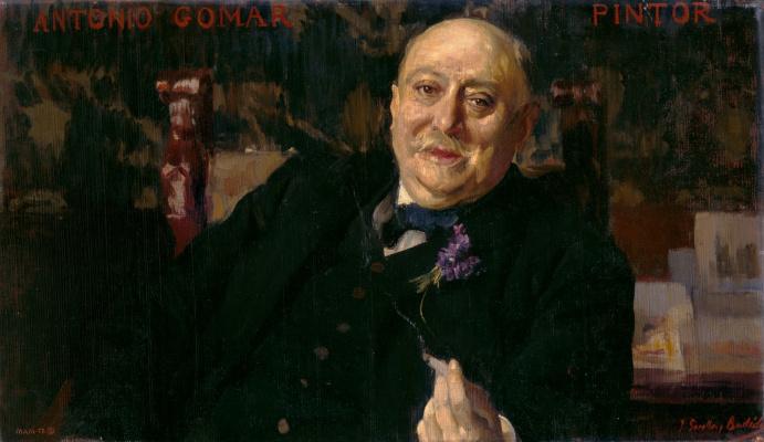 Joaquín Sorolla. The painter Antonio Gomar and Gomar