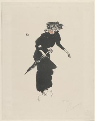 Pierre Bonnard. Lady with black umbrella