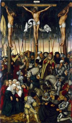 Лукас Кранах Младший. Распятие. 1546