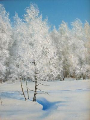 Vladimir Vasilyevich Abaimov. Winter in Talmenka Village 2