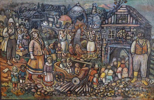 Ефим Васильевич Честняков (Самуилов). Вход в Город Всеобщего Благоденствия (фрагмент)