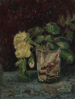 Vincent van Gogh. Glass with yellow roses