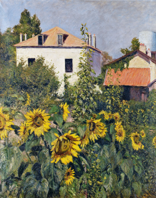 Gustave Caillebotte. Sunflowers. The garden in Petit-Gennevilliers