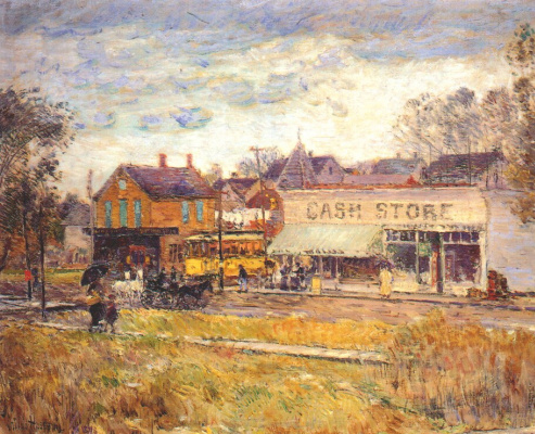 Childe Hassam. The end of the streetcar line, Oak Park, Illinois