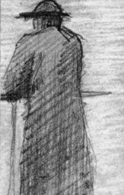 Жорж Сёра. Опершийся на перила