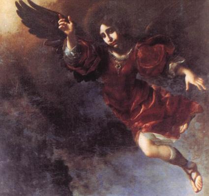 Carlo Dolci. The guardian angel