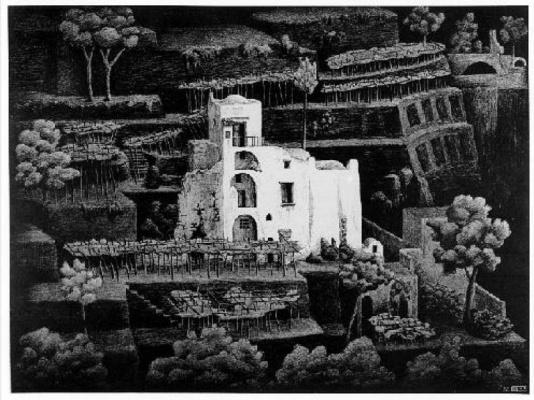 Maurits Cornelis Escher. Farmhouse, Ravello