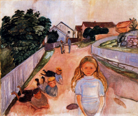 Edvard Munch. Street in Asgardstrand