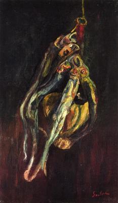 Haim Solomonovich Soutine. Herring and a bottle of Chianti