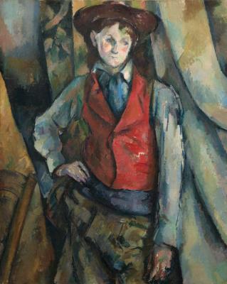 Paul Cezanne. Boy in a red waistcoat