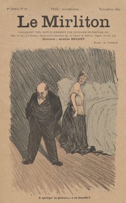"Theophile-Alexander Steinlen. Illustration for the magazine ""Mirliton"" No. 76, November, 1891"
