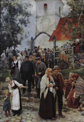 Janis Mikhailovich Rosenthal (Rosenthals). From the church (After service)