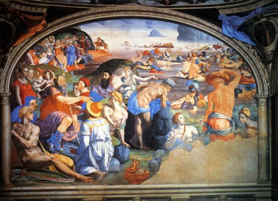 Agnolo Bronzino. Crossing the Red Sea