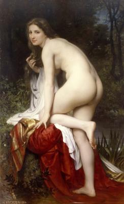 Адольф Бугро Вильям. Купальщица. 1864