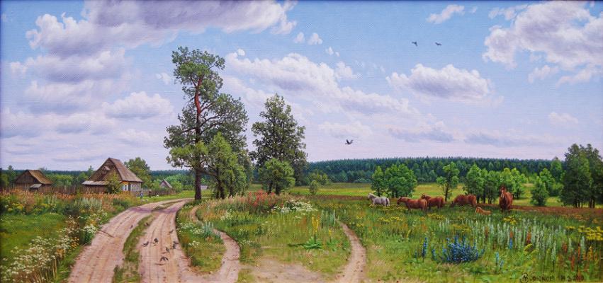 Alexander Vasilyevich Zoryukov. Rustic expanse