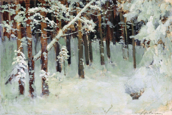 Isaac Levitan. Forest in winter