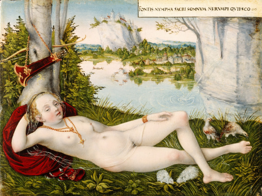 Lucas the Younger Cranach. Nymph of spring. after 1450-e