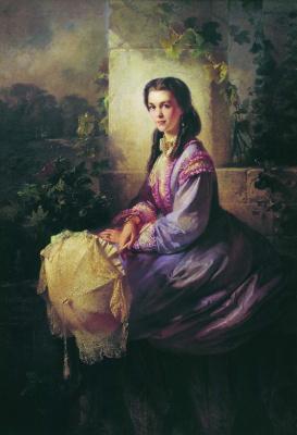 Konstantin Makovsky. Portrait of Countess S. L. Stroganova