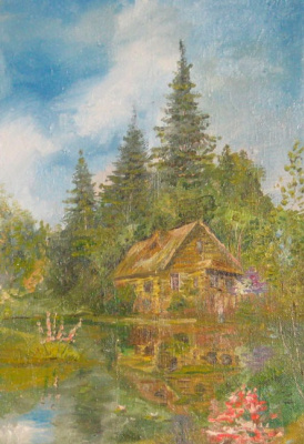 Pavel Markovich Osherov. A house by the river