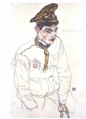 Эгон Шиле. Портрет русского военнопленного Григория Кладжишули