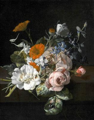 Rachelle Ruysch. Still life with flowers