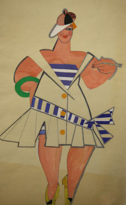 "Алла Александровна Горская. Costume design for the play by N. Kulish ""Otak Zaginuv Husk"""
