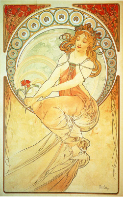 Alfons Mucha. Painting. From the Art