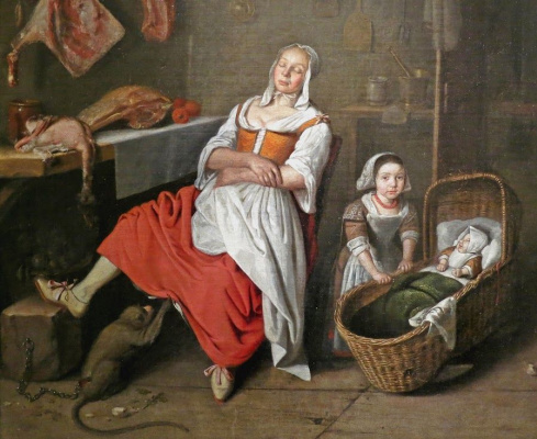 Peter Gerrits van Roystraten. In the kitchen