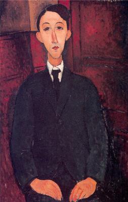 Амедео Модигилиани. Портрет мужчины в костюме