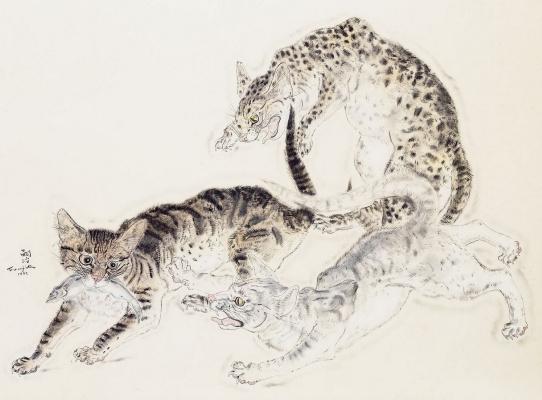 Цугухару Фудзита ( Леонар Фужита ). Кошки