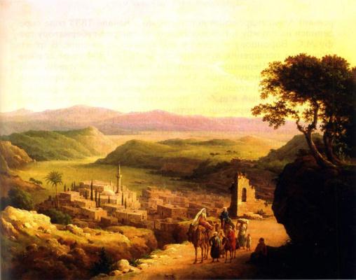 Nikanor Grigorievich Chernetsov. View of Nazareth in Galilee. 1869