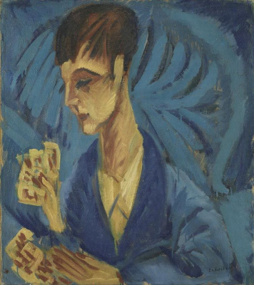 Ernst Ludwig Kirchner. A boy playing cards