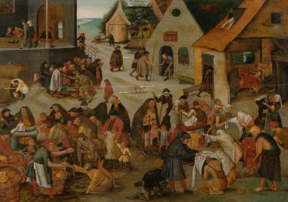 Peter Brueghel The Younger. Seven acts of mercy