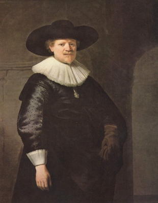 Rembrandt Harmenszoon van Rijn. Portrait of the poet Jan Krul Hermans