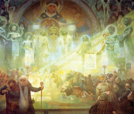 Alphonse Mucha. Mount Athos