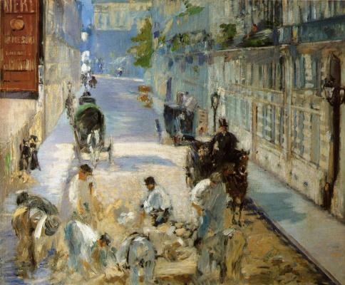 Edouard Manet. Repair work on the street MONEE
