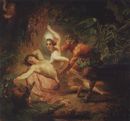 Diana, Endymion and Satyr