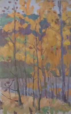 Nina Vasilievna Sedova. Gold of autumn
