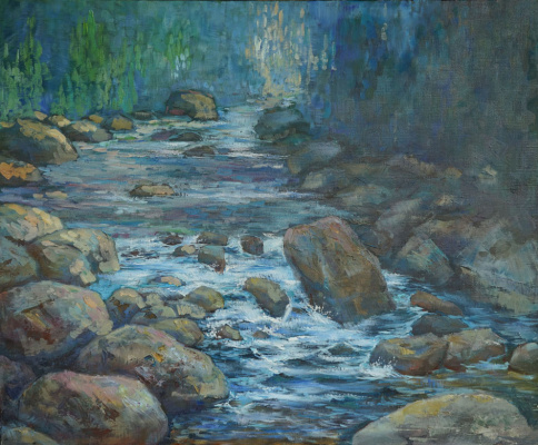 Alexander Panyukov. The coolness of the waterfall