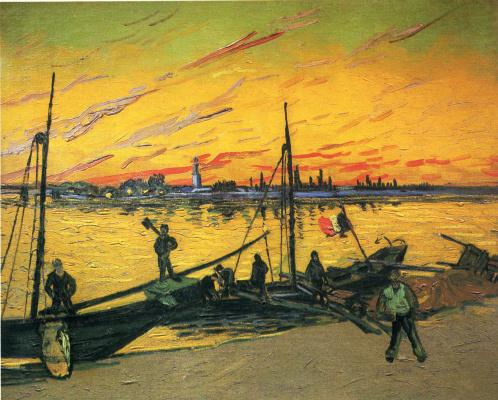 Vincent van Gogh. Coal barges