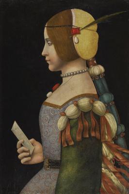 Портрет дамы в профиль