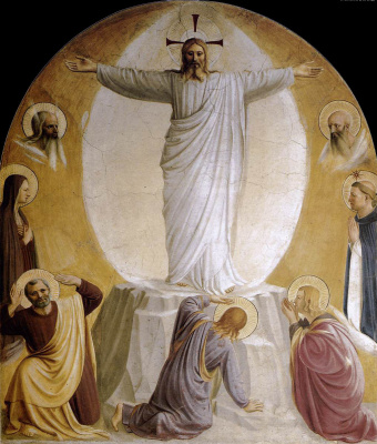 Fra Beato Angelico. Transfiguration. Fresco of the Monastery of San Marco, Florence