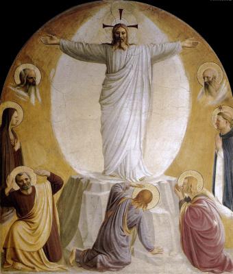 Фра Беато Анджелико. Преображение Господне. Фреска монастыря Сан Марко, Флоренция