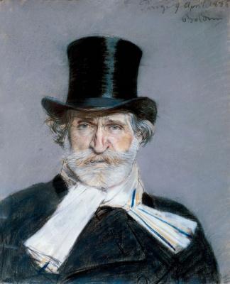 Giovanni Boldini. Portrait of Giuseppe Verdi