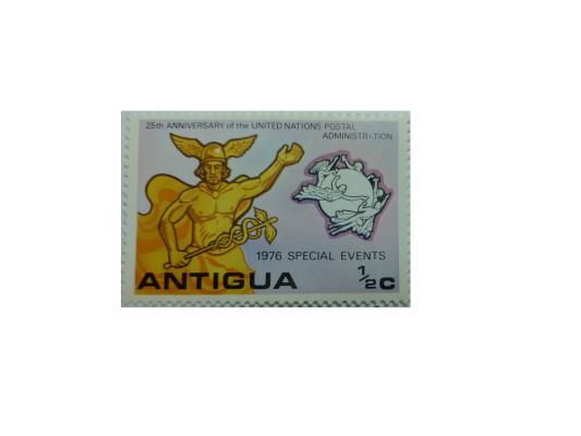 "Arthur Gabdrupes. ""Image"": ""Brand""; ""Mail"": ""Antigua"", 1976g. . '' Archiv '' (q) (1)"
