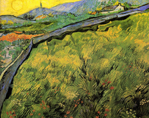 Vincent van Gogh. Spring wheat field at sunrise