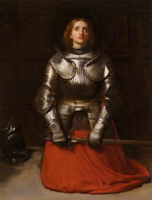 John Everett Millais. Joan of Arc in prayer