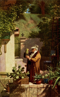 Are Still Carl Spitzweg. Lover of cacti