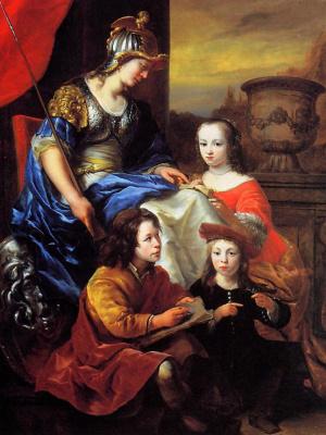 Фердинанд Балтасарс Боль. Портрет семьи. Аллегория образования